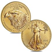 Lot Of 2 - 2021 1 Oz Gold American Eagle 50 Coin Bu Type 2