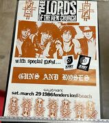 The Lords Of The New Church And Special Guest Guns And Roses 1986 Concert Poster