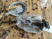 Ritual Smudging Feather Fan Wands For Sage Healing Secret Shaman Space Clearing