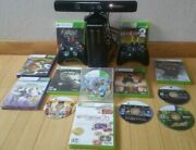 Xbox 360 E 4gb Black Console Bundle Kinect 13 Games Lot Controllers Minecraft