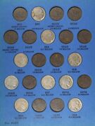 Buffalo Nickel Bison Black Diamond Lot 26 Different Coins Obsolete Old Us Type