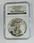 2006-p United States Silver Eagle Reverse Proof 20th Anniversary Ngc Pf69⭐030⭐v1