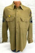 Wwii Us Army Enlisted Replacement And School Command Long Sleeve Shirt