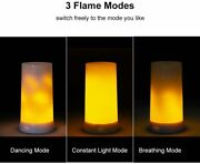 Usb Rechargeable Fireplace Light Flicking Flame Lamp Battery Operated Candles.