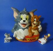 Cookie Jar Tom And Jerry, Best Friends, With Salt And Pepper Shaker, Turner