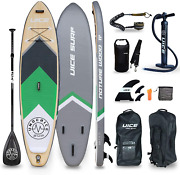 Uice Grey Wood Inflatable Stand Up Paddle Board 11and039x33 X6 Unique Classic Design