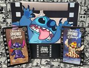 Stitch Crashes Disney Pin Collector Book Beauty And The Beast, Lady And Tramp Pins