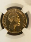 Coins, Nordic Hoard, Ngc, 1874 St Sweden 20k, Ms 65, Foreign Coin, Gold Coin,