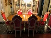 Romweber Vintage French Provincial Dining Room Set Handcrafted Cabinet And Table
