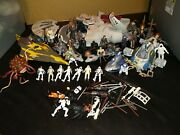 Lot Of Star Wars Modern Vintage 38 Action Figures And 8 Vehicles