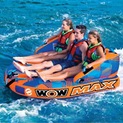 Wow Max 1 - 3 Person Towable Tube Boating Fun Watersports