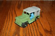 Mpc Vintage Army Battlefront Large Jeep And Silver Top - Marx Payton Timmee