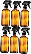 Empty Amber Glass Spray Bottle - Large 16 Oz Refillable Container For