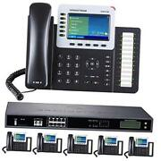 Business Phone System 8-line Ultimate Pack With Auto Attendant 6 Phone Bundle