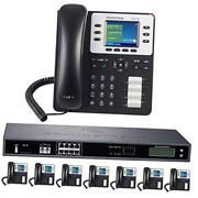 8-line Business Phone System Enhanced Pack With Auto Attendant, 8 Phone Bundle
