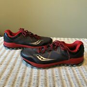 Saucony Menand039s Running Shoes Peregrine 8 Size 12.5 Red Black S20424-4
