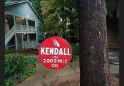 Vintage Double Sided Kendall The 2000 Mile Oil Metal Advertising Sign G-346 With