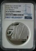 Great Britain Uk 5pounds 2020 Silver 2oz Coin Shaken Not Stirred 007 Ngc Pf69 Fr