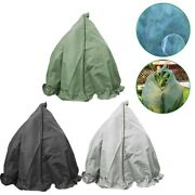 Plant Cover Protecting Bag Frost Protection Yard Garden Winter Drawstring Garden