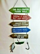 The Old Crappie Fishinand039 Hole Hanging Fishing Sign Fish Boat Hook 5 Signs In All