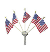 Chevy Chrome Flag Holder With Five American Flags 1955-1957 57-332998-1