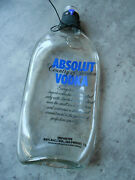 Absolute Vodka Melted Glass 1l Bottle Change Collector Spoon Rest Decorative