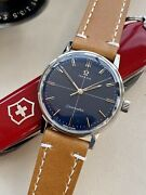 Omega Seamaster Stainless Blue Dial Steel Mens Vintage Serviced May 2021 Watch