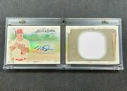 2018 Topps Allen And Ginter Mike Trout Booklet Jersey Patch Relic Auto /10 Angels