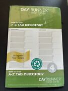 Telephone Day Runner A- Z Directory 51/2 X 81/2 Fits 3 And 7 Ring 23 Tab W/index