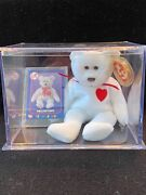 Ty Beanie Baby Valentino Brown Nose And Card/ Ny Yankees David Wells Perfect Game