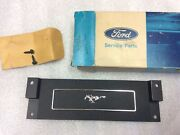 1969 -1970 Nos Ford Mustang Clock Delete Plate C9zz-6504428-a