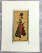 Mid Century Modern Deco Unframed Calyph's Favorite Erte Signed Lithograph
