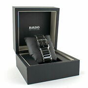 Rado Integral Jubile Two-tone Black Ceramic And Stainless Steel Mens Watch