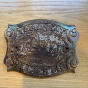 Antique The Great Majestic Cast Iron Plate Steam Ship Logo