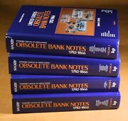 Haxby Standard Catalogs Of United States Obsolete Bank Notes 1782-1866 - 4 Books