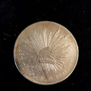 1893 Mexican 8 Silver Reales. No Scratches Or Dings Durango Mint. Rhv-083