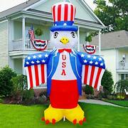 6 Ft Patriotic Independence Day/flag Day Inflatable Eagle Decorations 4th Of