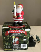 Mr Christmas Goodnight Lights Blow Out Santa's Candle Turn Off Tree Lights