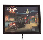 Snap On Lane Light Up Wall Clock 1920andrsquos Collectors Series Limited Edition Dealer