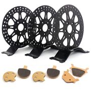 For Harley Dyna 1987-1999 Front Rear Od 11.5 Id 2 Brake Discs Rotors Pads Kit