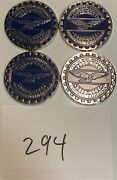 Zenith Wire Wheels Chips Emblems Campbell California Blue 294 Chrome Size 2.25andrdquo