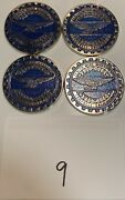 Zenith Wire Wheels Chips Emblems Campbell California Blue 9 Chrome Size 2.25andrdquo
