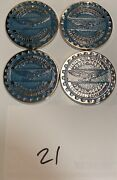 Zenith Wire Wheels Chips Emblems Campbell California Blue 21 Chrome Size 2.25andrdquo