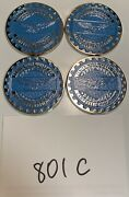 Zenith Wire Wheels Chips Emblems Campbell California Blue 801c Chrome Size 2.25andrdquo