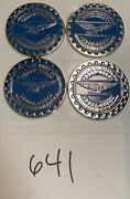 Zenith Wire Wheels Chips Emblems Campbell California Blue 641 Chrome Size 2.25andrdquo