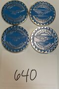 Zenith Wire Wheels Chips Emblems Campbell California Blue 640 Chrome Size 2.25andrdquo