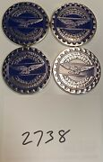 Zenith Wire Wheels Chips Emblems Campbell California Blue 2738 Chrome Size 2.25andrdquo
