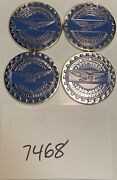 Zenith Wire Wheels Chips Emblems Campbell California Blue 7468 Chrome Size 2.25andrdquo