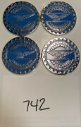 Zenith Wire Wheels Chips Emblems Campbell California Blue 742 Chrome Size 2.25andrdquo