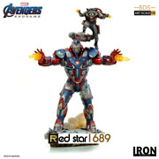 1/10 Avengers 4 Iron Patriot Rocket Statue Model Gears Of War And Raccoon Collect